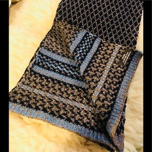 Other - 🧣💯wool winter warm scarf blue brown new